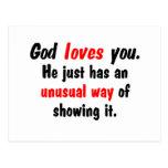 God loves you. postcard