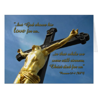 God Loves You Romans 5:7-8 Bible Verse Note Card