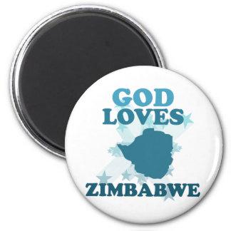 God Loves Zimbabwe Magnet