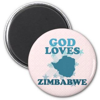 God Loves Zimbabwe Fridge Magnets