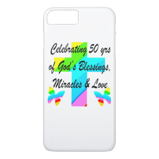 GOD LOVING 50TH iPhone 8 PLUS/7 PLUS CASE