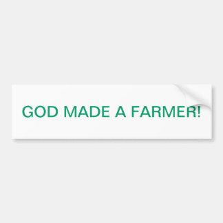 GOD MADE A FARMER BUMPER STICKERS