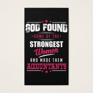 God Made Accountants Hilarious Profession Design Business Card
