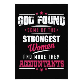 God Made Accountants Hilarious Profession Design Card