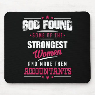God Made Accountants Hilarious Profession Design Mouse Pad