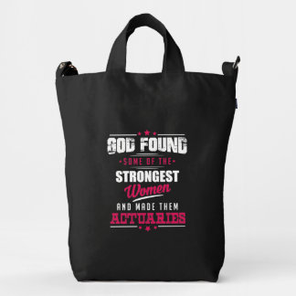 God Made Actuaries Hilarious Profession Design Duck Bag