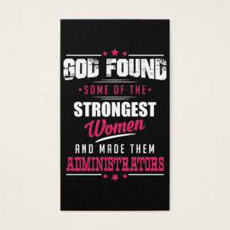 God Made Administrators Hilarious Profession Dsgn Business Card