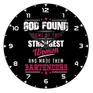 God Made Bartenders Hilarious Profession Design Large Clock