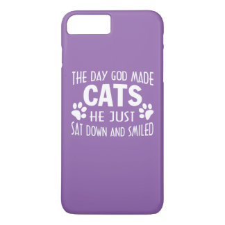 GOD MADE CATS iPhone 7 PLUS CASE
