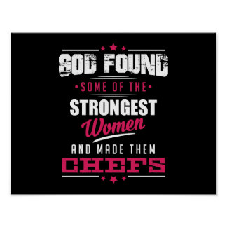 God Made Chefs Hilarious Profession Design Poster