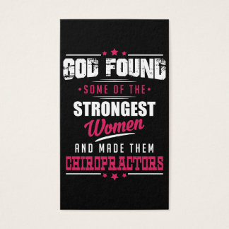God Made Chiropractors Hilarious Profession Design Business Card