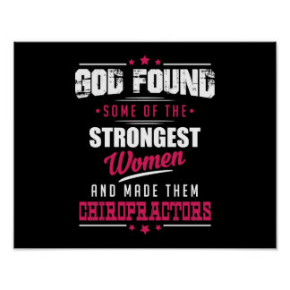 God Made Chiropractors Hilarious Profession Design Poster