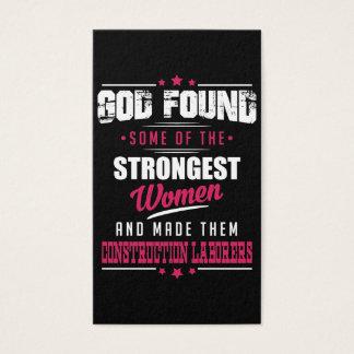 God Made Construction Laborers Hilarious Design Business Card
