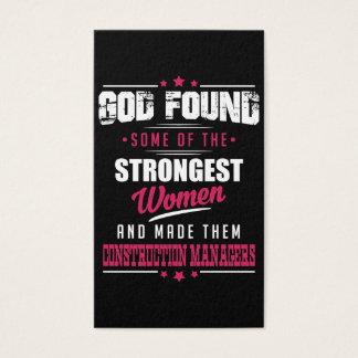 God Made Construction Managers Hilarious Design Business Card