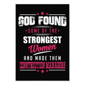 God Made Construction Managers Hilarious Design Card