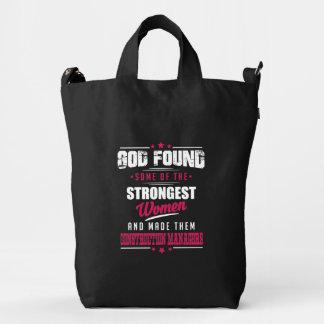 God Made Construction Managers Hilarious Design Duck Bag