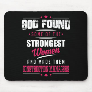 God Made Construction Managers Hilarious Design Mouse Pad