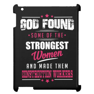 God Made Construction Workers Hilarious Profession iPad Cases