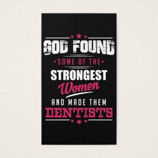 God Made Dentists Hilarious Profession Design Business Card