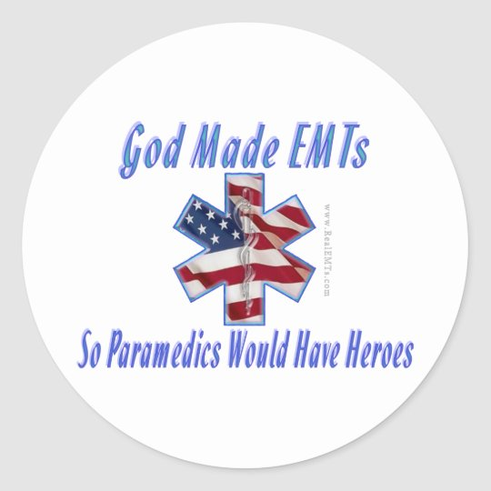 God Made EMTs Sticker