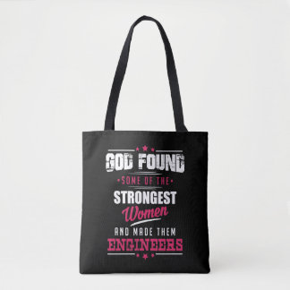 God Made Engineers Hilarious Profession Design Tote Bag