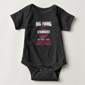 God Made Financial Analysts Hilarious Profession Baby Bodysuit