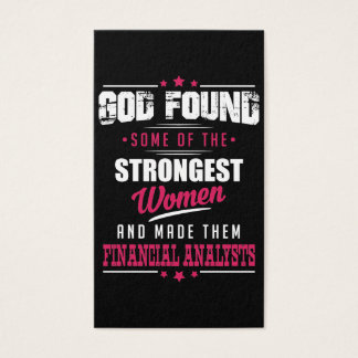 God Made Financial Analysts Hilarious Profession Business Card