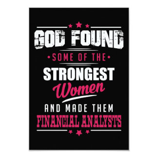 God Made Financial Analysts Hilarious Profession Card