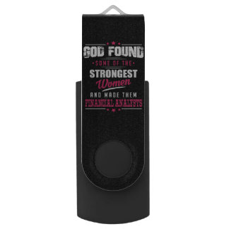 God Made Financial Analysts Hilarious Profession Flash Drive