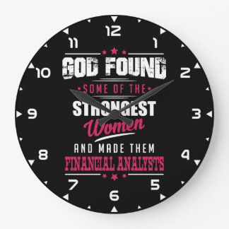 God Made Financial Analysts Hilarious Profession Large Clock