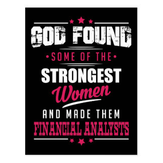 God Made Financial Analysts Hilarious Profession Postcard