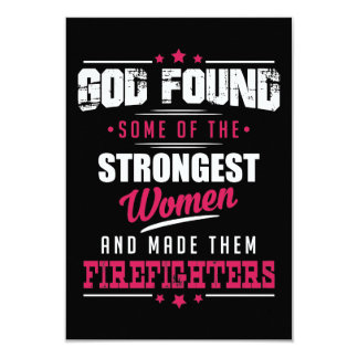 God Made Firefighters Hilarious Profession Design Card