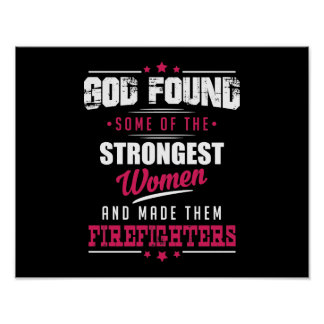 God Made Firefighters Hilarious Profession Design Poster