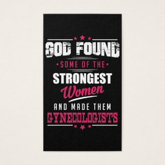 God Made Gynecologist Hilarious Profession Design Business Card