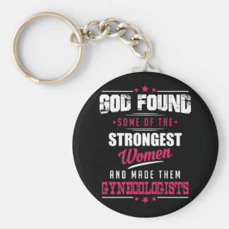 God Made Gynecologist Hilarious Profession Design Keychain