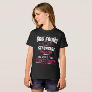 God Made Gynecologist Hilarious Profession Design T-Shirt