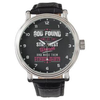 God Made Gynecologist Hilarious Profession Design Wrist Watch