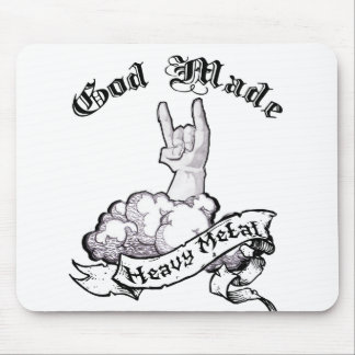 God made heavy metal mouse pad