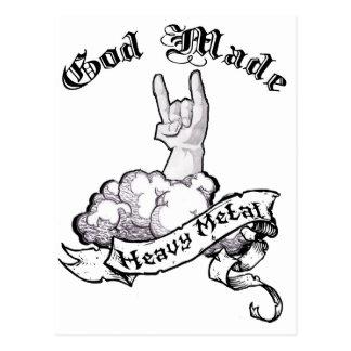 God made heavy metal postcard