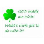 GOD made Irish Post Cards