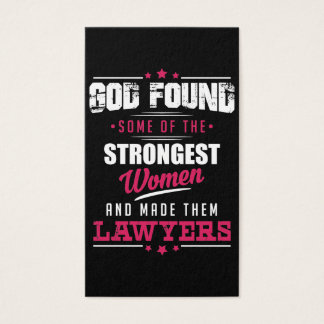 God Made Lawyers Hilarious Profession Design Business Card