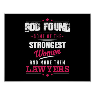 God Made Lawyers Hilarious Profession Design Poster