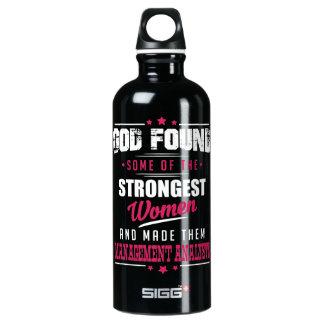 God Made Management Analysts Hilarious Profession Aluminum Water Bottle