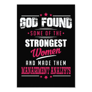 God Made Management Analysts Hilarious Profession Card