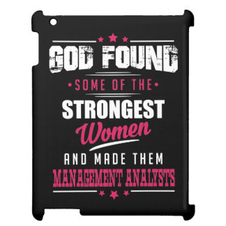 God Made Management Analysts Hilarious Profession iPad Cover