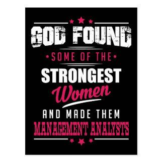 God Made Management Analysts Hilarious Profession Postcard