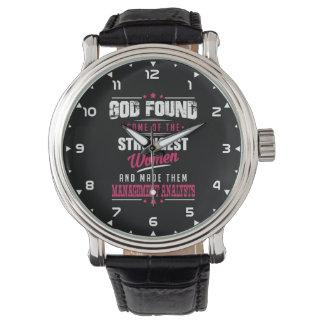 God Made Management Analysts Hilarious Profession Wrist Watch
