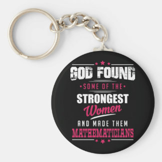 God Made Mathematicians Hilarious Profession Dsgn Keychain