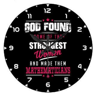 God Made Mathematicians Hilarious Profession Dsgn Large Clock