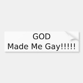 God Made Me Gay Bumper Sticker